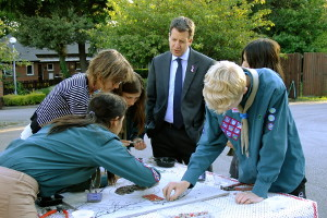 Scouts try their hand at mosaics