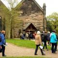 Walking up to the door of St John's