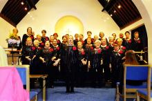 Lace City Chorus in their performance attire