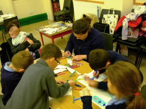 Messy Church - making decorations